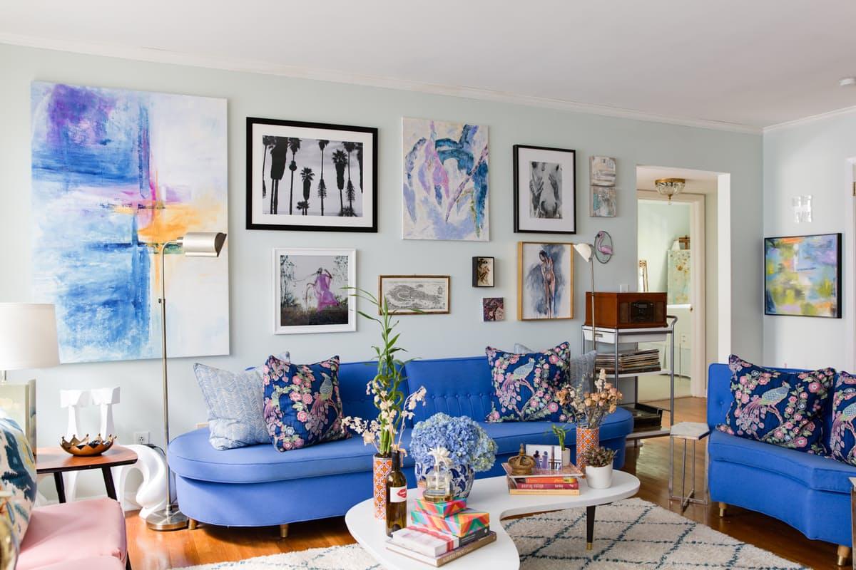 Sala De Estar Decorada Em Tons De Azul Decora O E Ideias