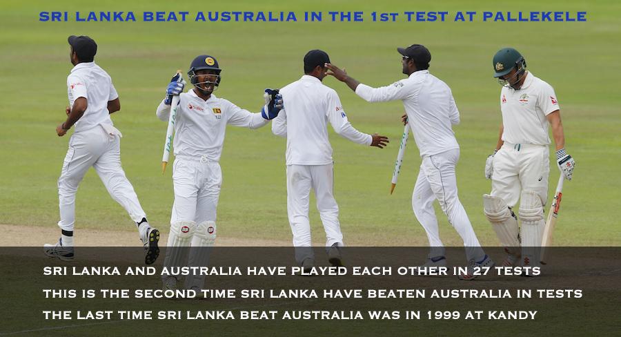 Sri Lanka beat Australia in first test at Pallekele