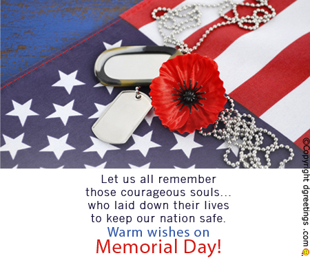 Memorial Day 2017 Messages