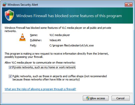 Liberar firewall
