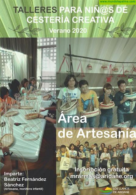 El Ayuntamiento de Los Llanos de Aridane abre las inscripciones para los talleres de cestería creativa para niños y niñas a partir de 8 años