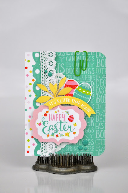 Easter card with Jen Gallacher from www.jengallacher.com. #easter #card #eastercard #echoparkpaper