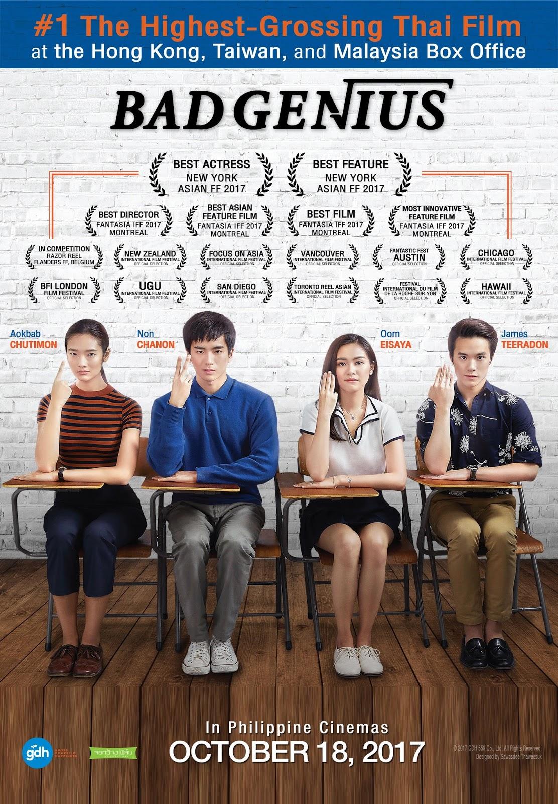 Download Bad Genius Sub Indo : download, genius, Thailand, Movies, Loverz:, Genius, (2017), Bluray