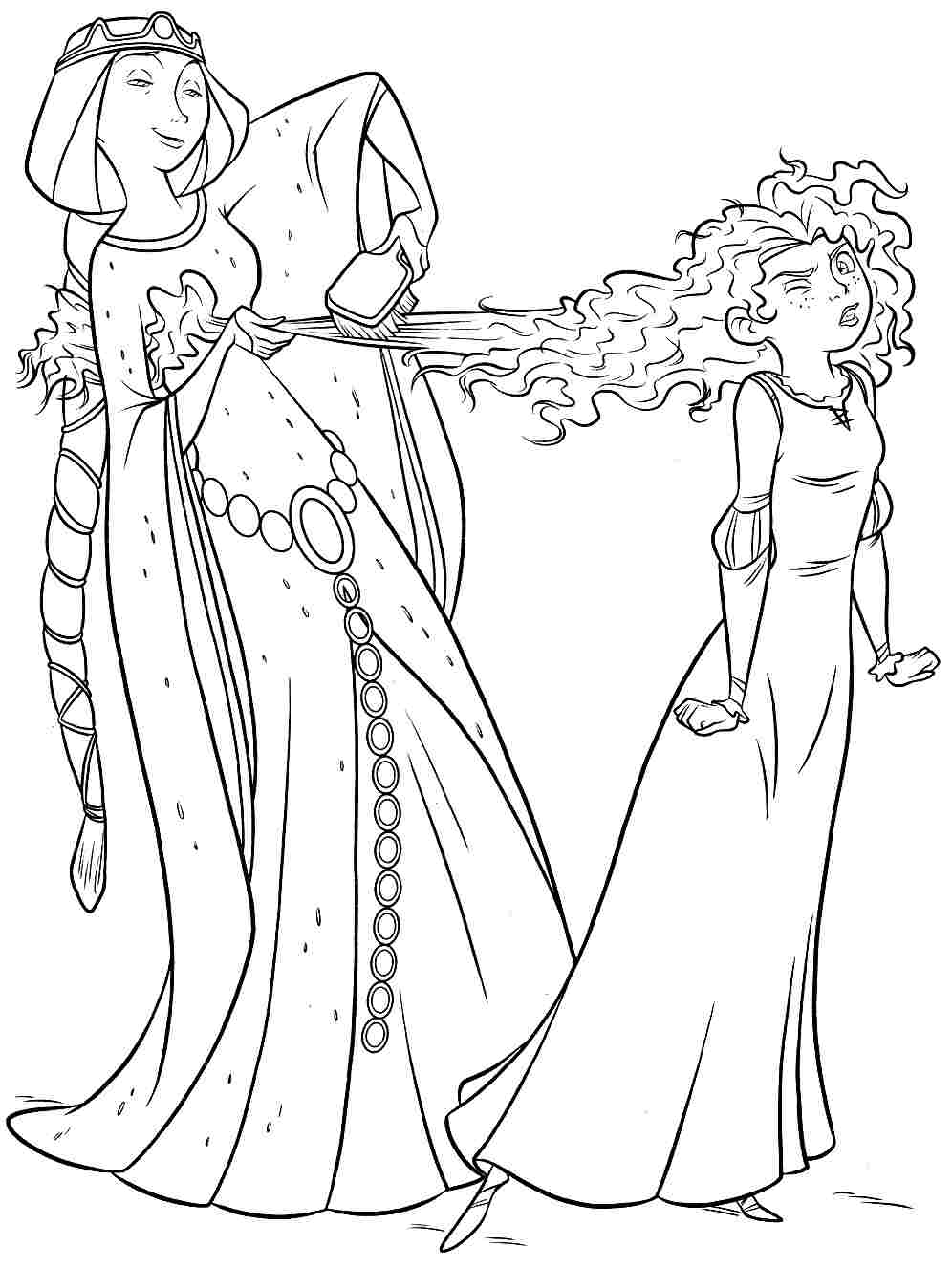 Free disney brave coloring pages printabel for Coloring pages merida