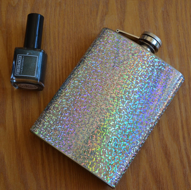 Firecracker Lacquer holographic flask
