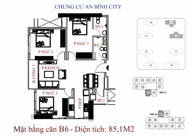 Căn B6 diện tích 85,1m2 An Bình City