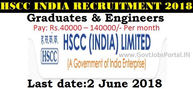 HSCC INDIA RECRUITMENT 2018