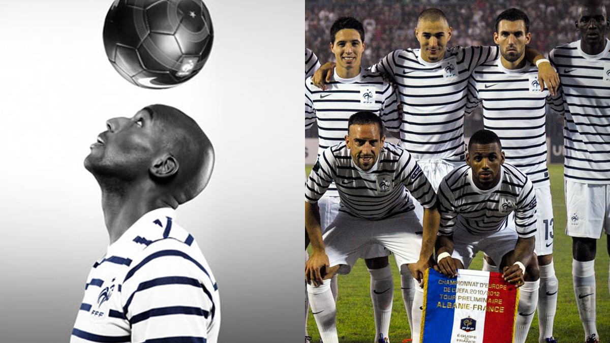 9057b8d07e85 What many of you might not know is that the designer helped Nike creating  the France 2011 away kit