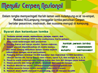 [Gratis] Lomba Menulis Cerpen Nasional 2018 di NU Lampung