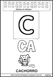 Cartaz das famílias silábicas do C