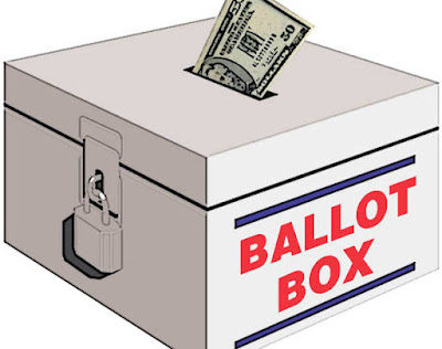 cash going into ballot box