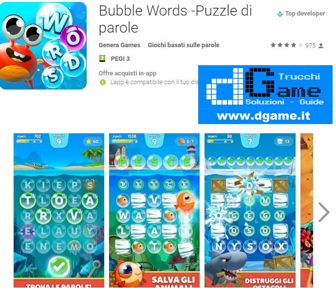 Trucchi Bubble Words - Puzzle di parole Mod Apk Android v1.0.12