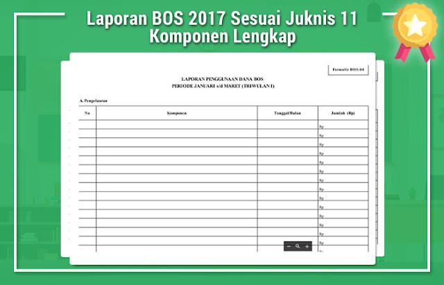 Laporan BOS 2017 Sesuai Juknis 11 Komponen Lengkap