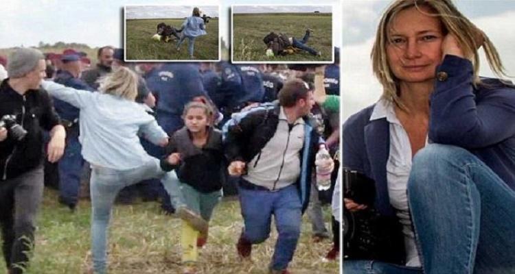هل تتذكرون هذه المصورة الهنغارية و ما فعلته مع مهاجر سوري..شاهد ما حدث لها البارحة