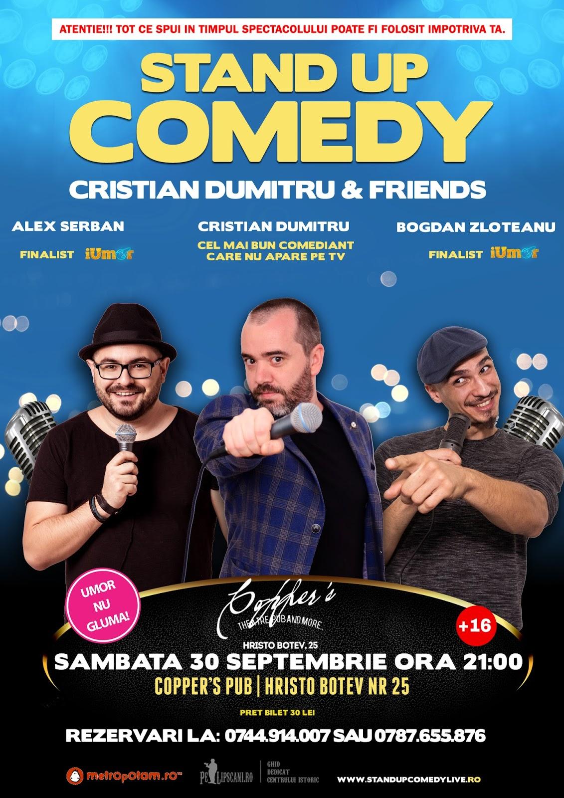 Stand-Up Comedy Bucuresti Sambata 30 septembrie