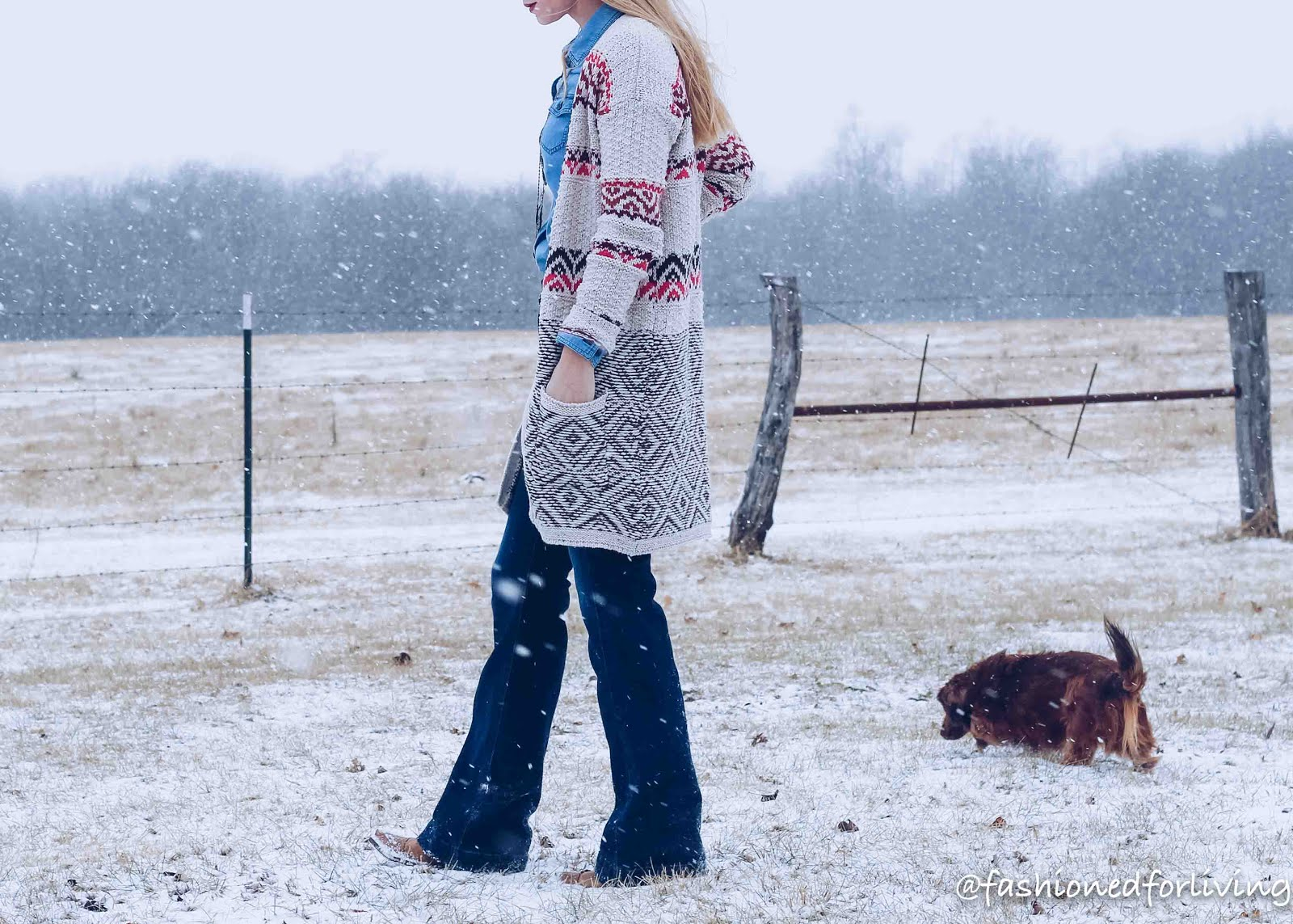 winter cowgirl boot outfit