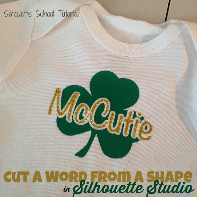 Silhouette Studio, word, shape, Silhouette tutorial