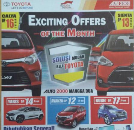 Promo Toyota Gunung Sahari