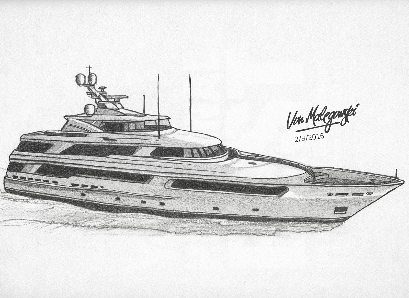 how to draw a yacht boat