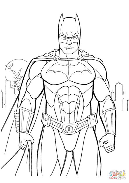 Click The Batman Coloring Pages To View Printable Version Or Color It  Online Patible With Ipad And Android Tablets