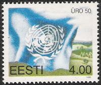 Estonie - ONU timbre
