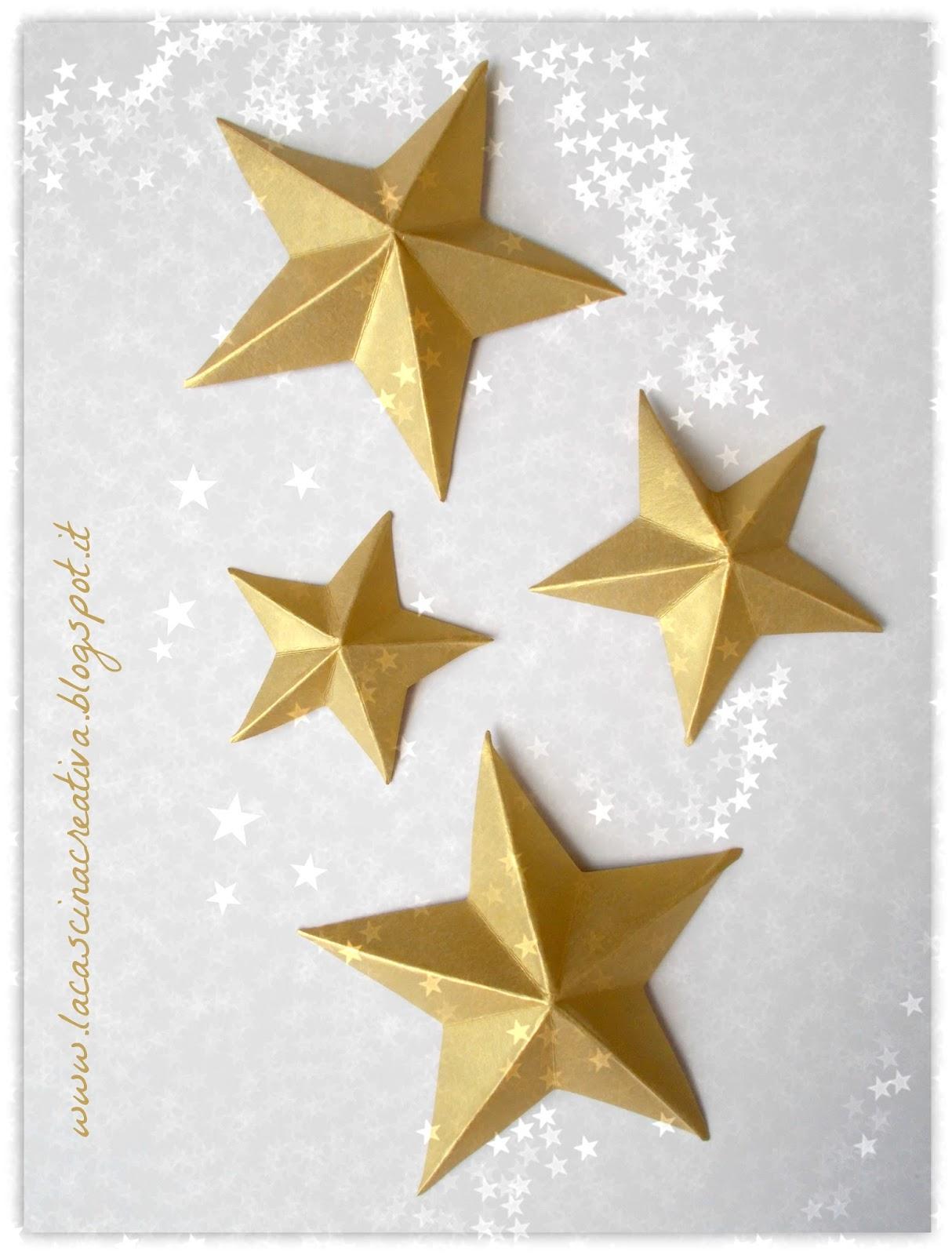 La cascina creativa tutorial per realizzare le stelle for Stelle di carta tridimensionali