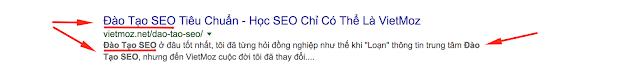 Tối ưu tiêu đề hiển thị trên Google