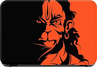 Flipkart SmartBuy Jai Hanuman Premium LG Vinyl (matte) Laptop Decal 15.6