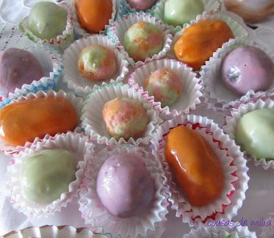 Bombones de colores y sabores