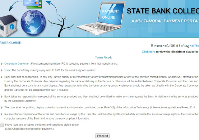 state bank fee collect page