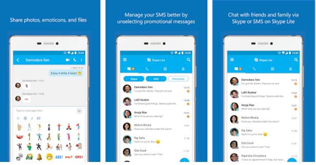 تطبيق-Skype-Lite-للاندرويد