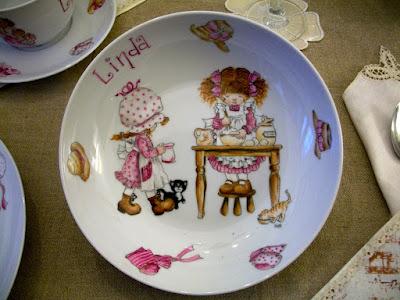 piatto sarah key, porcelain paintings