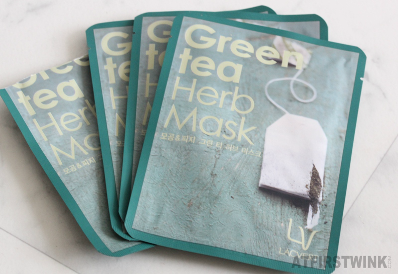 Review Lacvert green tea herb sheet mask