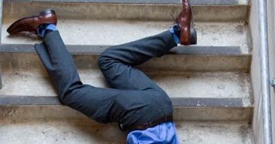 éviter chute d'escaliers