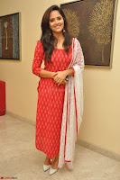 Anasuya Bharadwaj in Red at Kalamandir Foundation 7th anniversary Celebrations ~  Actress Galleries 039.JPG