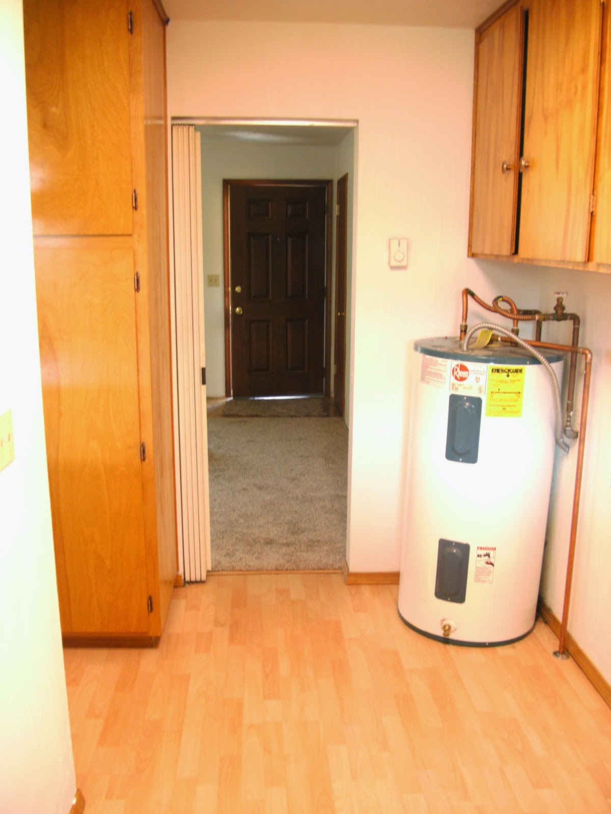 Laundry Room Redo - Hiding the Electrical Panel & Hot ...