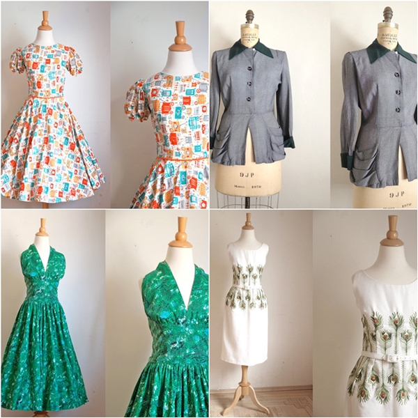 trunk of dresses vintage clothing
