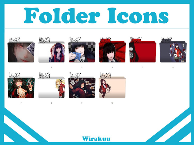 Folder Icons Anime Kakegurui  [Anime Summer 2017]