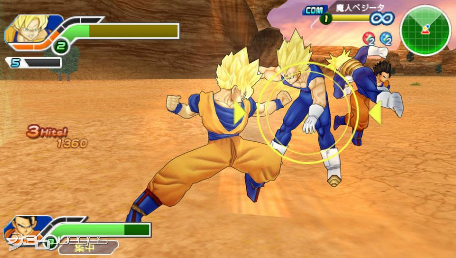 gratuitement dragon ball z tenkaichi tag team sur psp