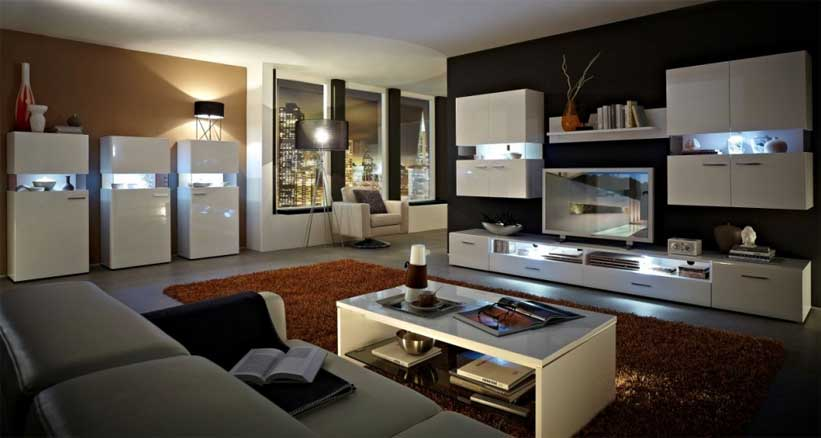 decorilumina ideas de un living moderno con modelos alemanes. Black Bedroom Furniture Sets. Home Design Ideas