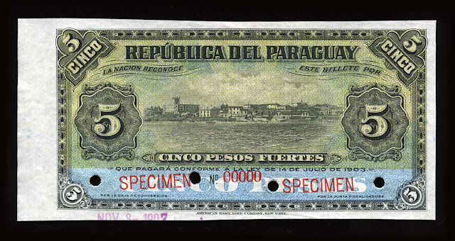 World paper money Paraguay Currency peso banknote cash