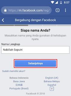 Cara Membuat Akun Facebook Melalui HP