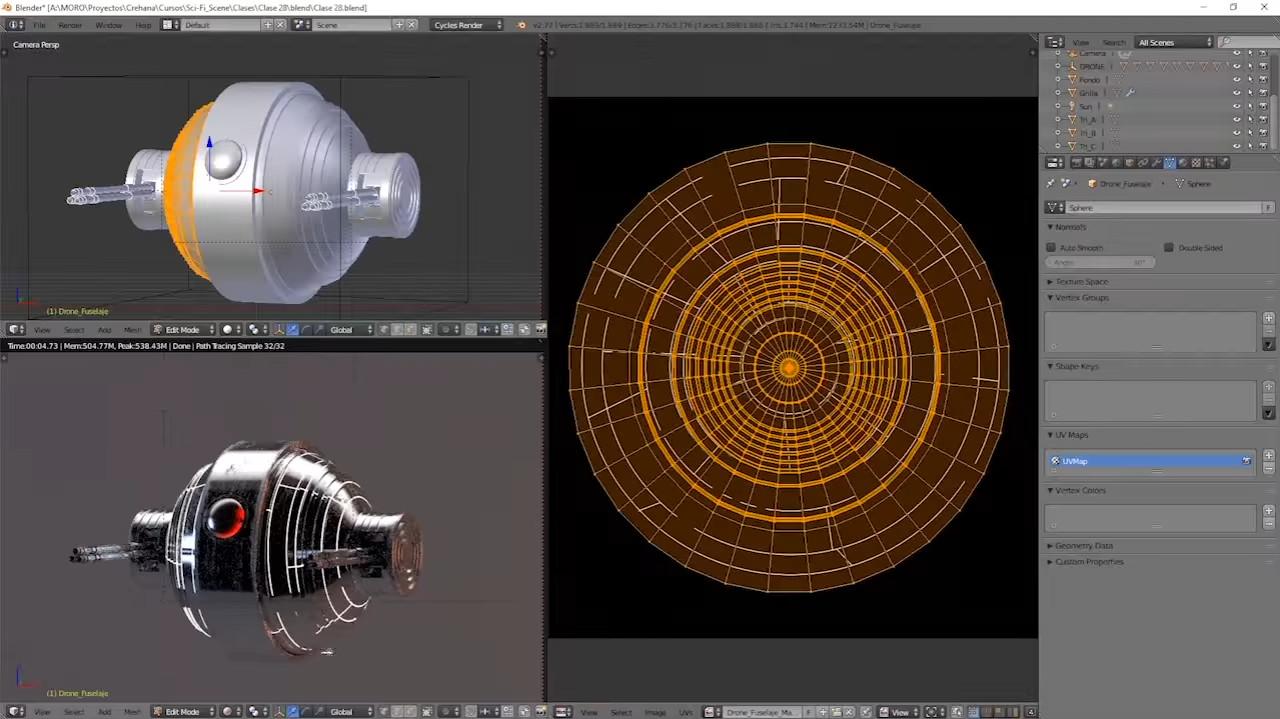 Aprende De 0 al 3D: Crea una escena Sci-Fi con Blender | Crehana