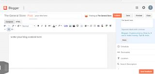 write a post in blogger