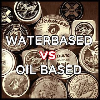 minyak rambut pomade waterbased vs oil based