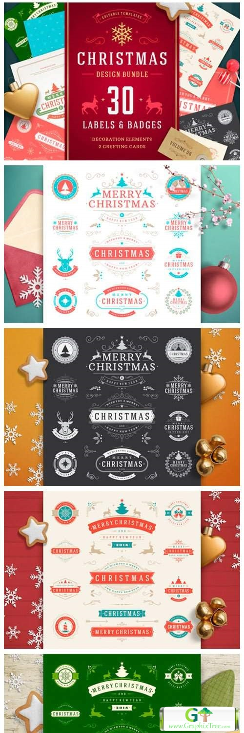 Christmas 30 Labels and Badges 5636794
