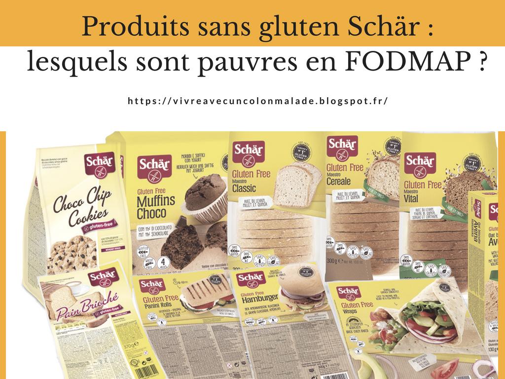 produits sans gluten Schär régime pauvre en FODMAP