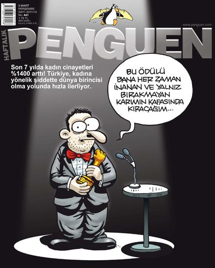 penguen kadın cinayetleri karikatür