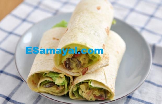 சப்பாத்தி ரோல் செய்முறை / Chapatti Roll Recipe !