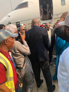 Breaking News: Atiku Returns To Nigeria From US, Welcomed By Mammoth Crowd